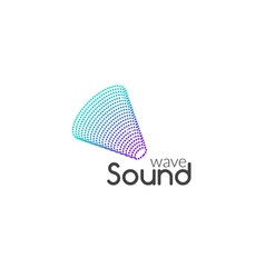 Sound audio music wave logo design business icon vector