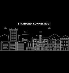 Stamford silhouette skyline usa - stamford vector