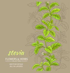 stevia background vector image