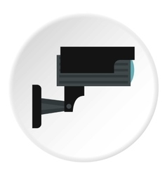 Surveillance camera icon flat style vector