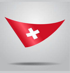 swiss flag background vector image
