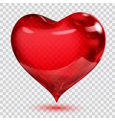Transparent heart vector