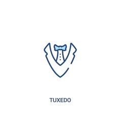 Tuxedo concept 2 colored icon simple line element vector