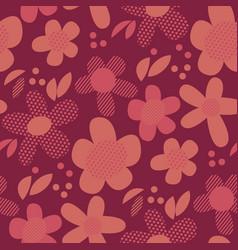 vintage geometric style floral motif vector image