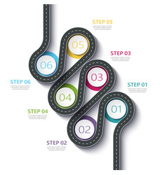 winding road way location infographic template vector image