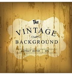 Wooden vintage background vector