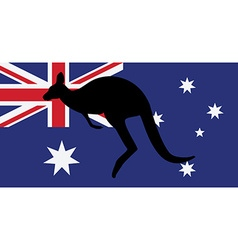 Australian flag and kangaroo vector