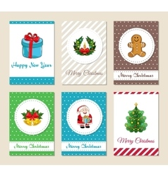 Christmas Greeting Cards and Invitations Set vector image