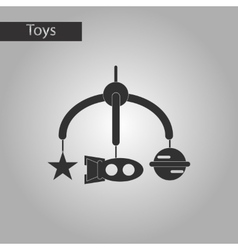 black and white style toy mobility vector image