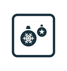 Christmas Decorations icon Rounded squares button vector image