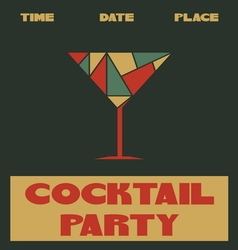 Coctail party poster2 vector image