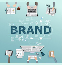 Creative of business brand vector