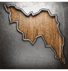 Metallic rip on wooden background vector