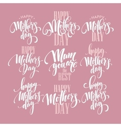 Mothers Day greeting card calligraphy vector image