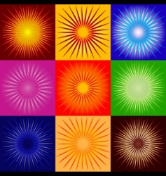 raysabstract backgrounds vector image vector image