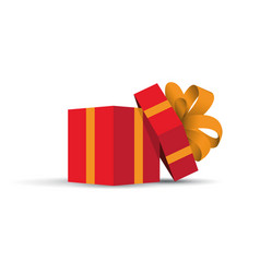 red opened present vector image vector image