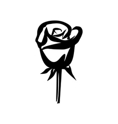 Rose simple icon vector image