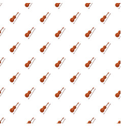Violin with fiddlestick pattern vector