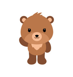 cute cartoon bear backgrounds flat design vector image vector image