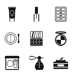 Face care icons set simple style vector