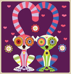 lemurs lovely couple vector image vector image