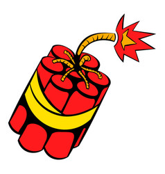 red dynamite sticks icon icon cartoon vector image