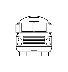 School bus front view vector image