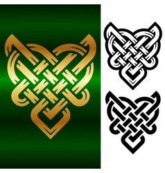 small celtic heart vector image