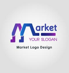 color blend market business logo template vector image vector image