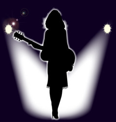 folk singer vector image