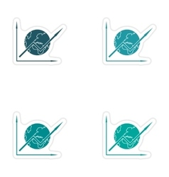 Set of stylish sticker on paper schedule and the vector