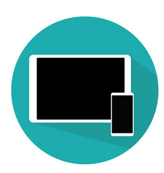 tablet and phone flat modern design blue vector image vector image