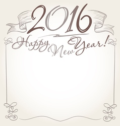 2016 and Happy New Year words vector