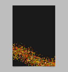 Abstract blank wavy confetti poster background vector
