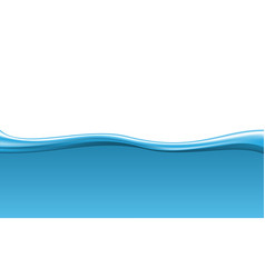 abstract blue wave water on white background vector image