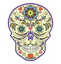 Abstract colorful skull vector