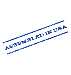 Assembled In USA Watermark Stamp vector