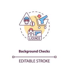 Background check concept icon vector