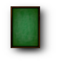 Background with green blackboard vector