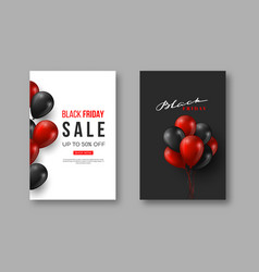 black friday sale posters typographic design with vector image