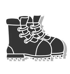 Boot footwear icon design vector