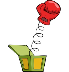 Boxing glove out box vector