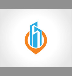 building cityscape position logo vector image