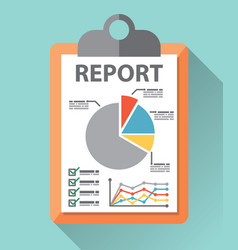 Business report paper vector