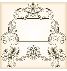 calligraphic frame vector image