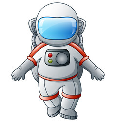 Cartoon astronaut on a white background vector