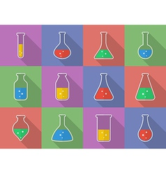 Chemical biological science laboratory equipment - vector image