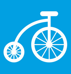 Children bicycle icon white vector