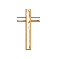 christian cross symbol vector image