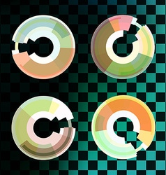 Circle set Business Abstract Circle icon vector image vector image